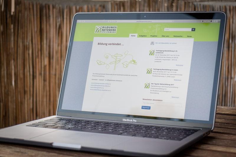 WordPress Website Website bildungsnetzwerk-stmk