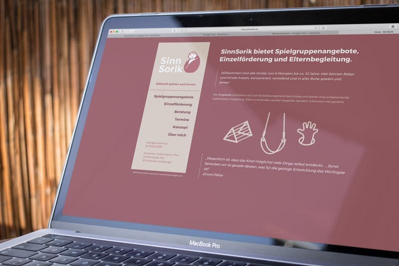 HTML5 CMS Website Sinnsorik.at