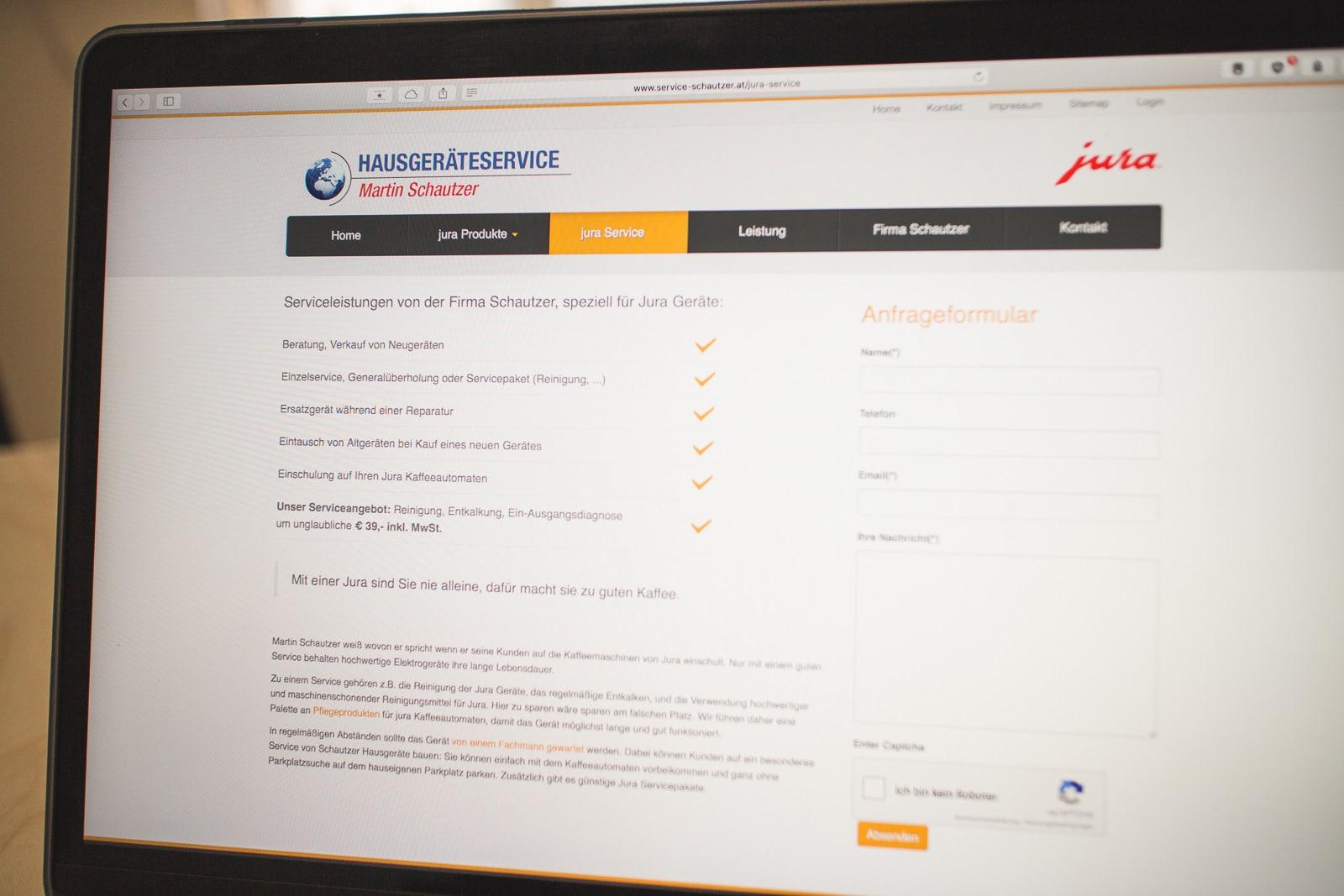Joomla CMS Firmen Webauftritt für Hausgeräteservice - Martin Schautzer
